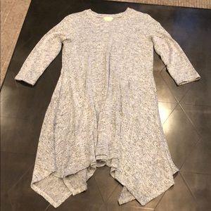 Beautiful soft gray flowy sweater dress